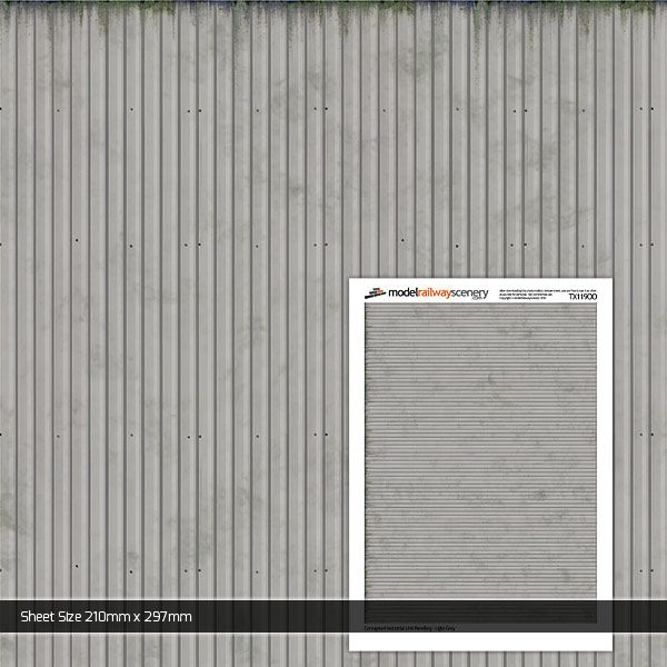 Light Industrial Units In Rugby: Light Grey Corrugated Industrial Unit Panelling Texture