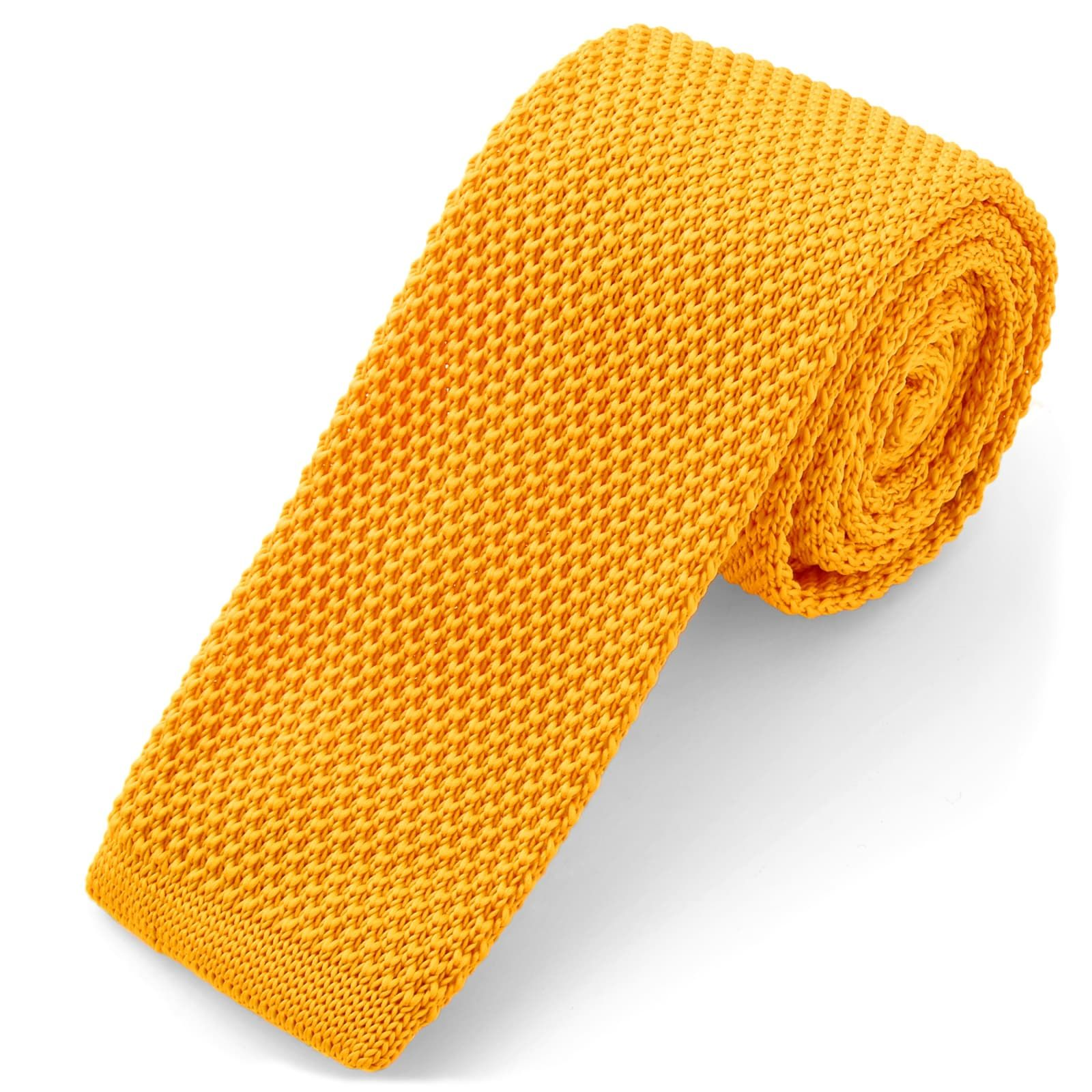 Photo of Yellow Knitted Tie | Tailor Toki | 365 day return policy