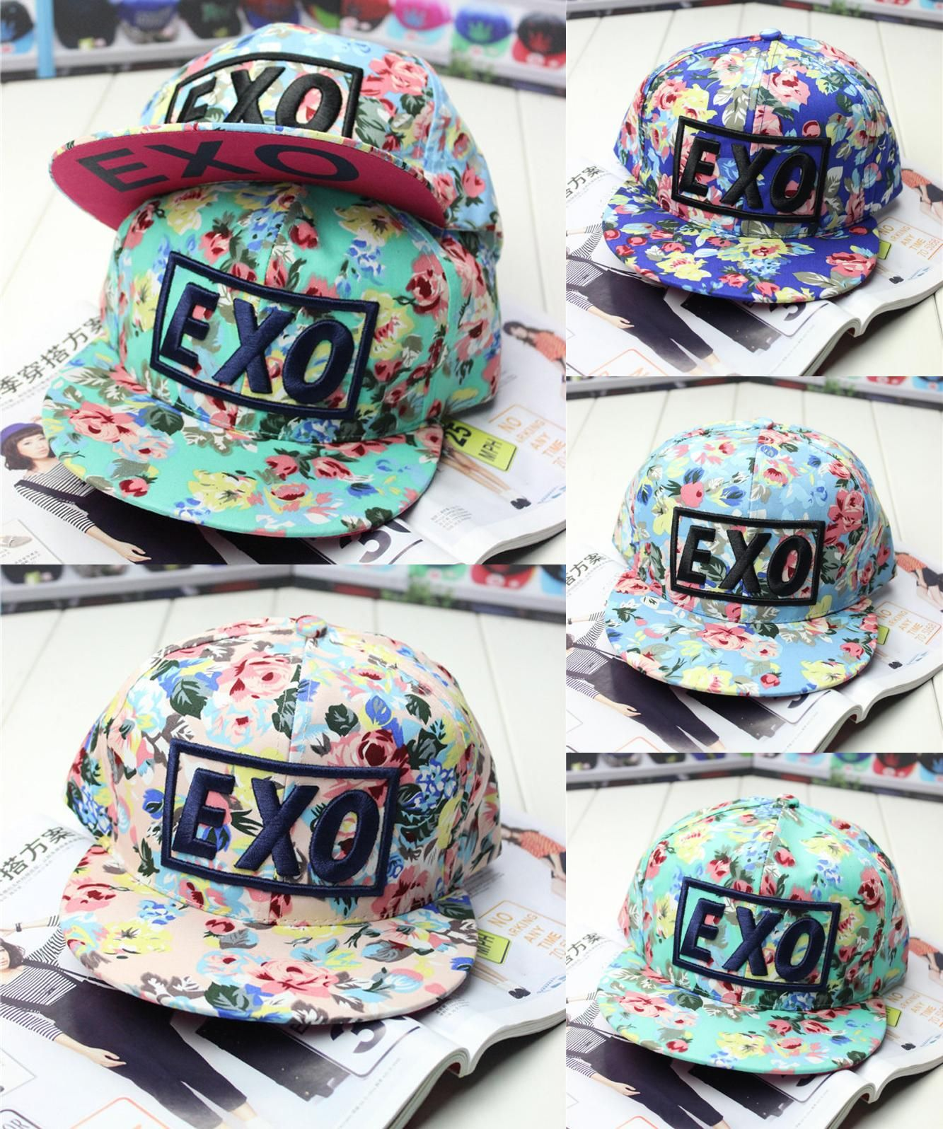 b2252239d02  Visit to Buy  2016 brand new design fashion colorful flower print Snapback baseball  cap