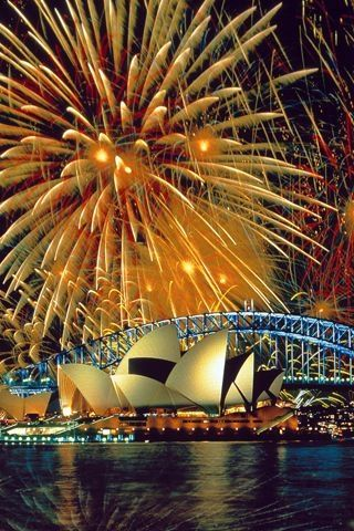Sydney, Australia; One day, I will celebrate the new year here and I shall kiss a hot australian surfer for the new years kiss!