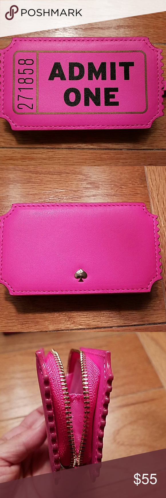 kate spade admit one coin purse