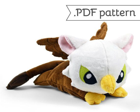 Griffin Plush Eagle Lion Bird Monster .pdf Sewing Pattern | Peluches ...