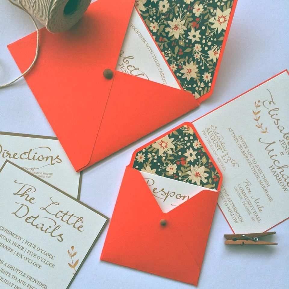 Desine Wedding Invitations | Coral invitations, Invitation envelopes ...