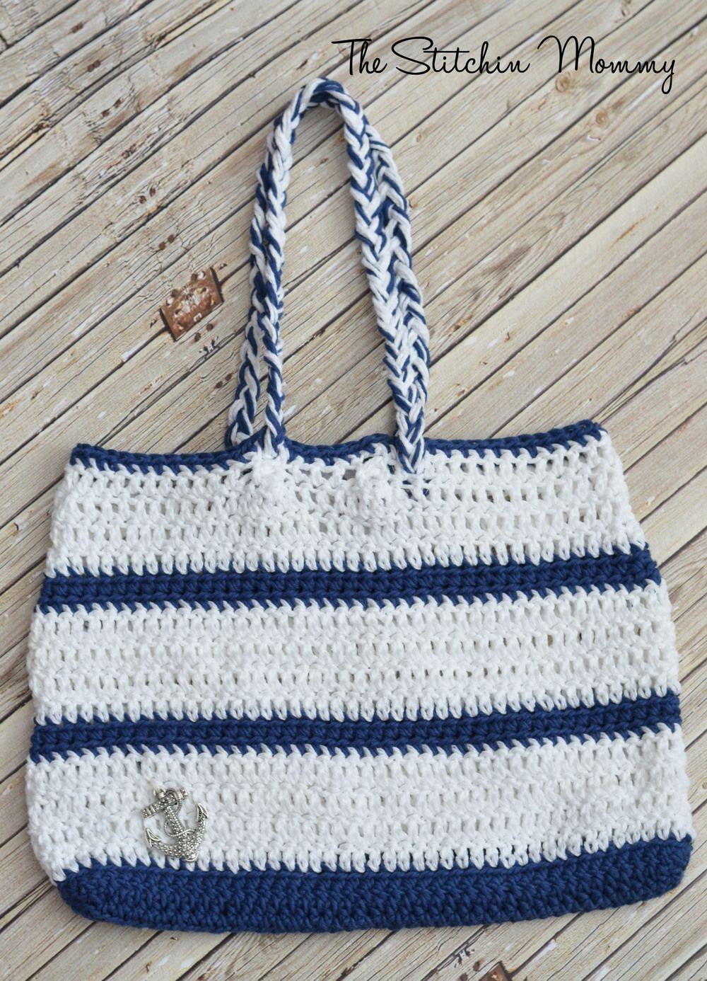 Crochet Nautical Tote | Monedero de tela, Monederos y Tejido