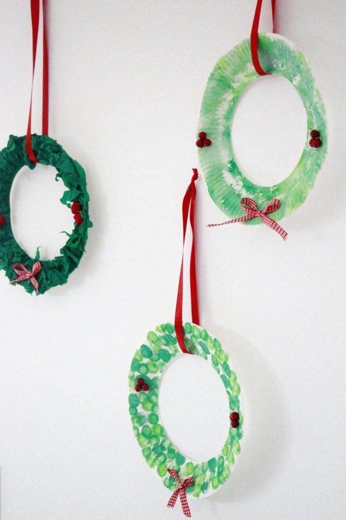 DIY: Selbstgebastelter Pappteller-Weihnachtskranz als Geschenkidee für Oma und Opa - Lavendelblog