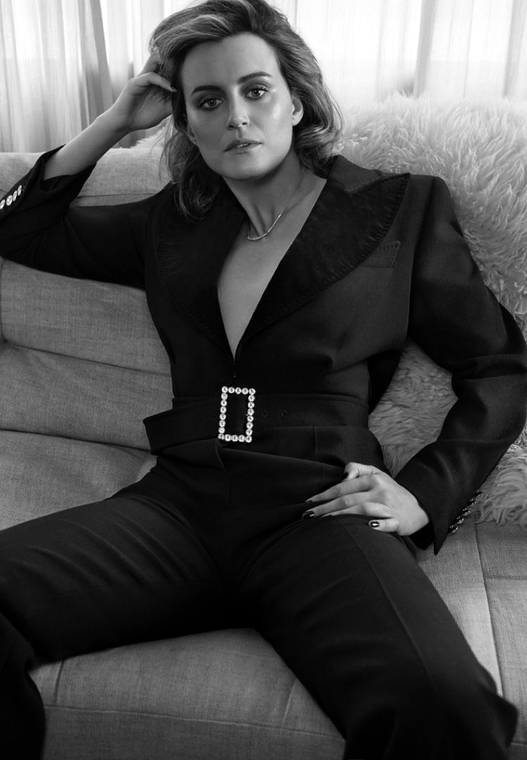 Photo of Taylor Schilling Wears Chic Fashions for Story + Rain