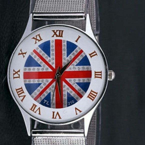 $ 15.00 Large British Flag Round Face Watch Brand new very cute watcg Accessories Watches