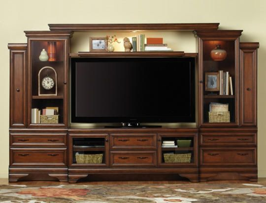 Sienna Wall With 64 Console Chestnut For The Home Living Room