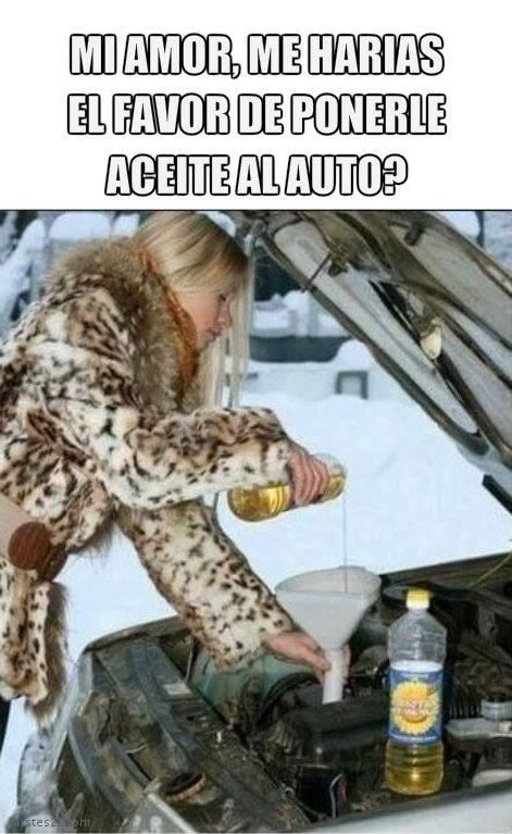 Chistes21 Com Aceite Al Auto Funny Pictures Funny Spanish Jokes