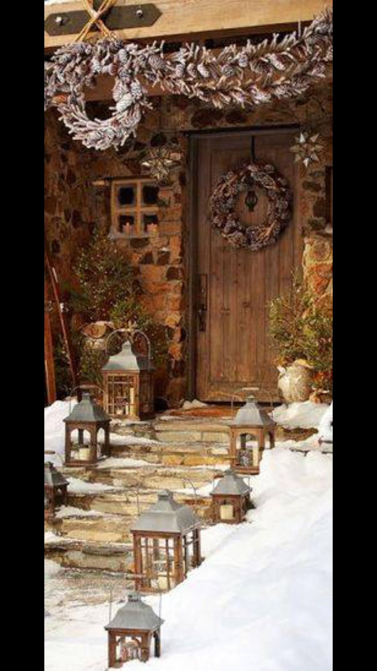 Christmas Cabin Doors Topsimages