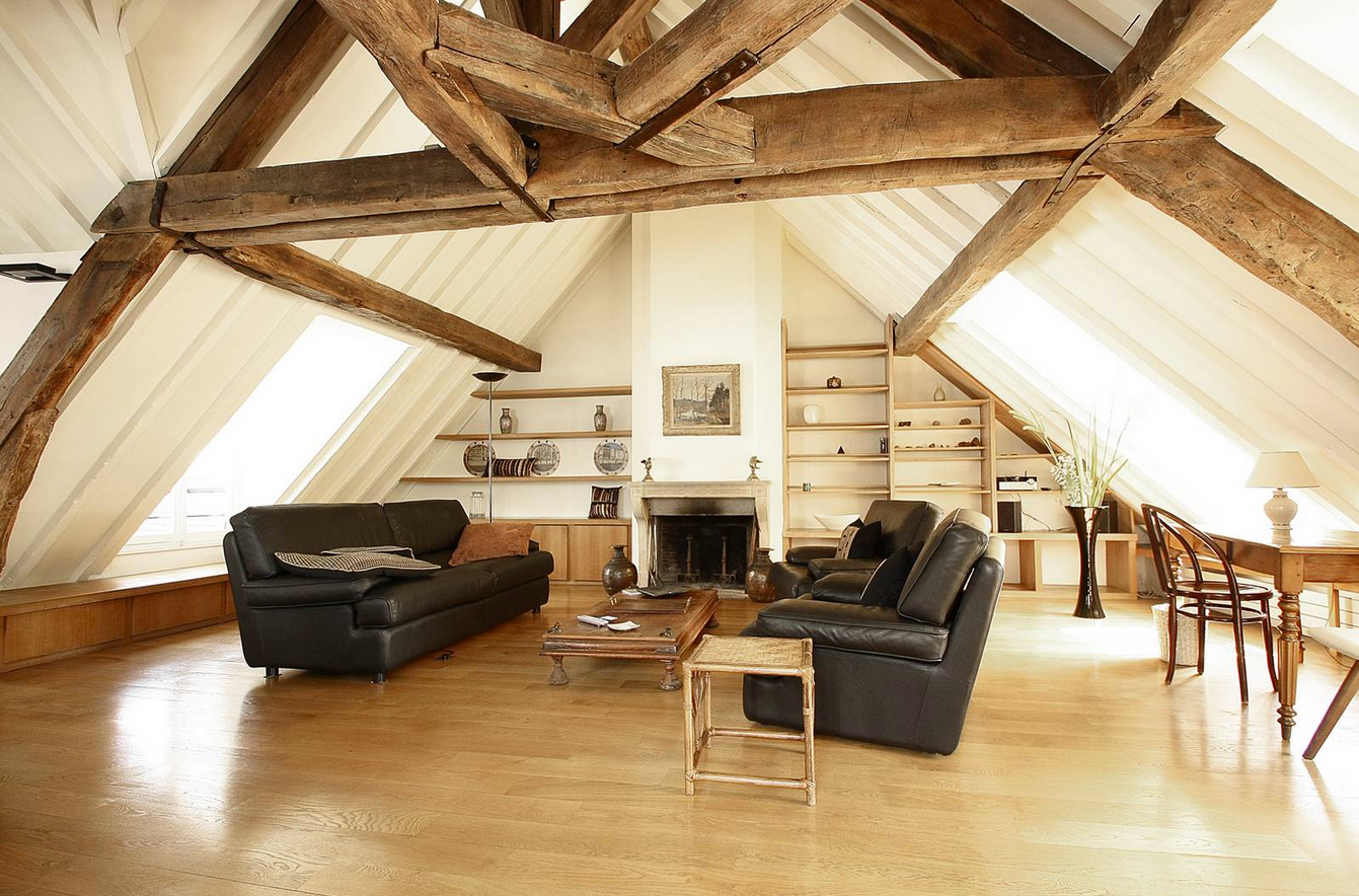 Bright Lounge With Nice Wooden Beams Luxury Loft Loft Style Cosy Lounge