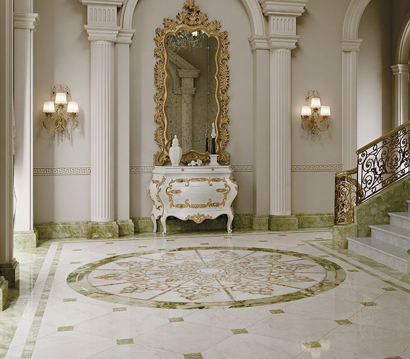 Classic interiors luxury budri italian marble inlay for Interior design italiani