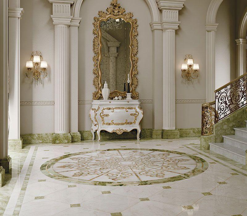 Marble Floor Marquetry : Classic interiors luxury budri italian marble inlay