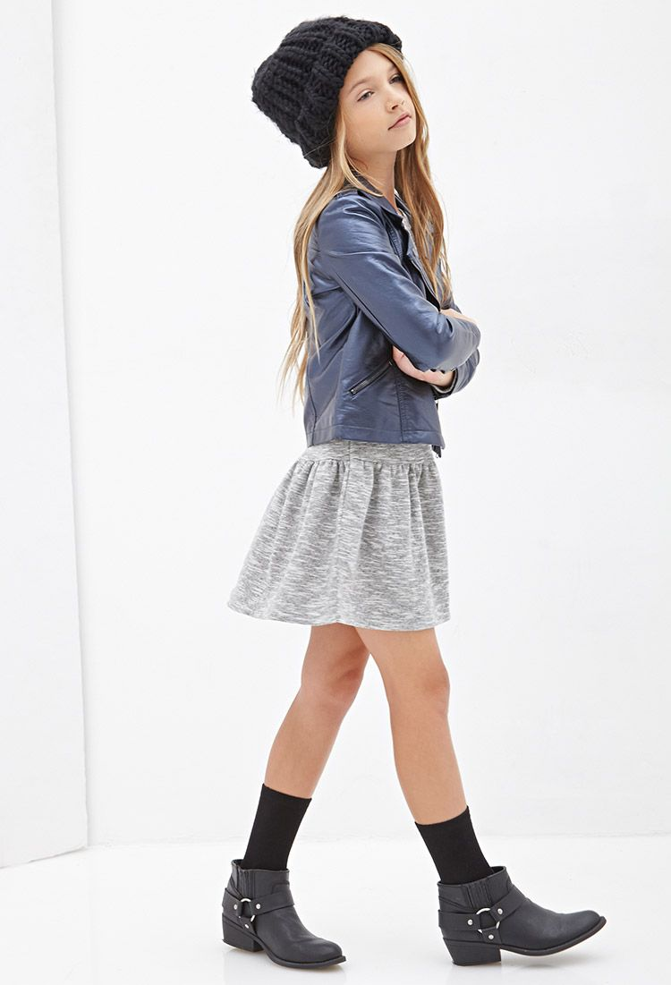 faux leather moto jacket kids forever21 girls