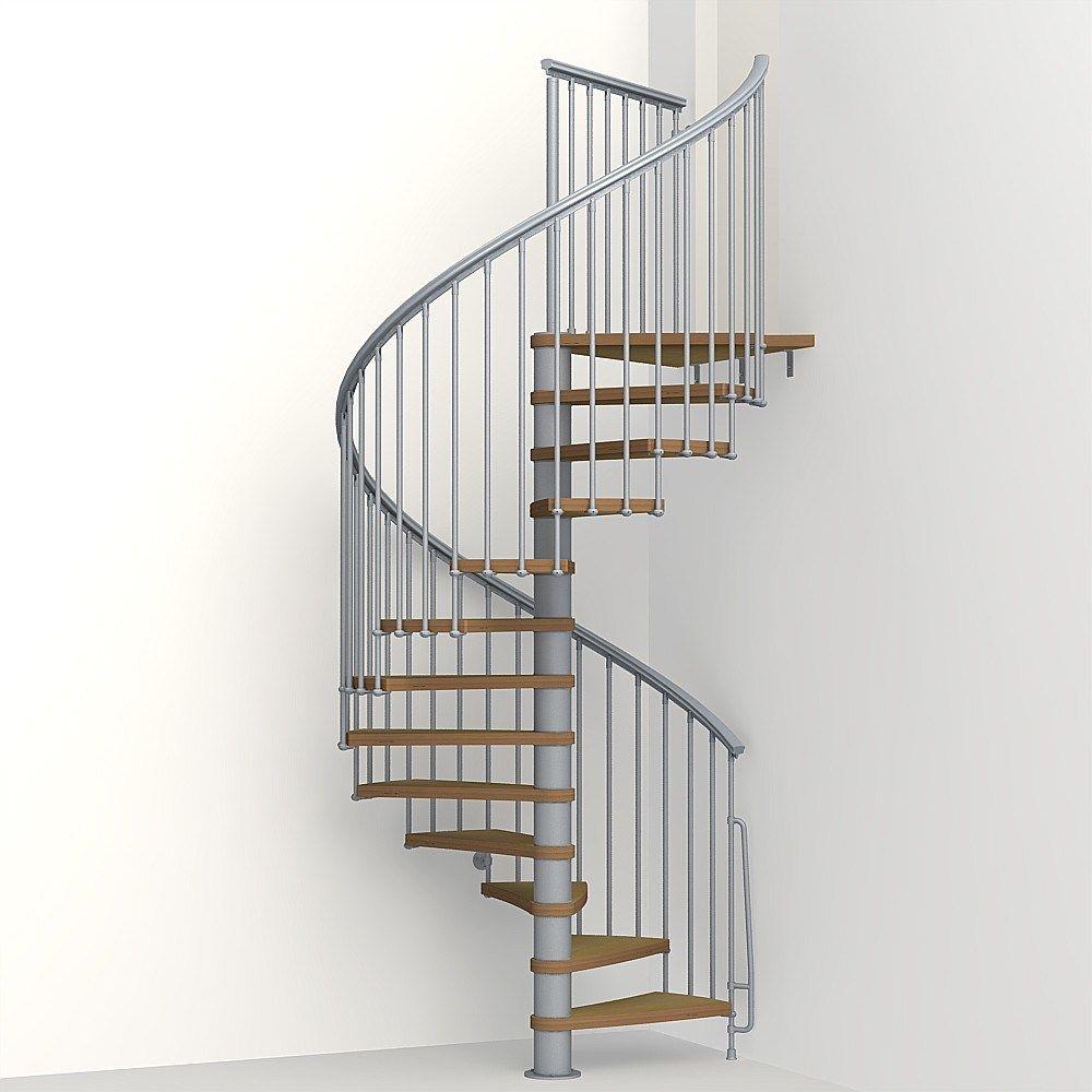 Cheap Price Design Carbon Steel Wood Indoor Spiral Stair