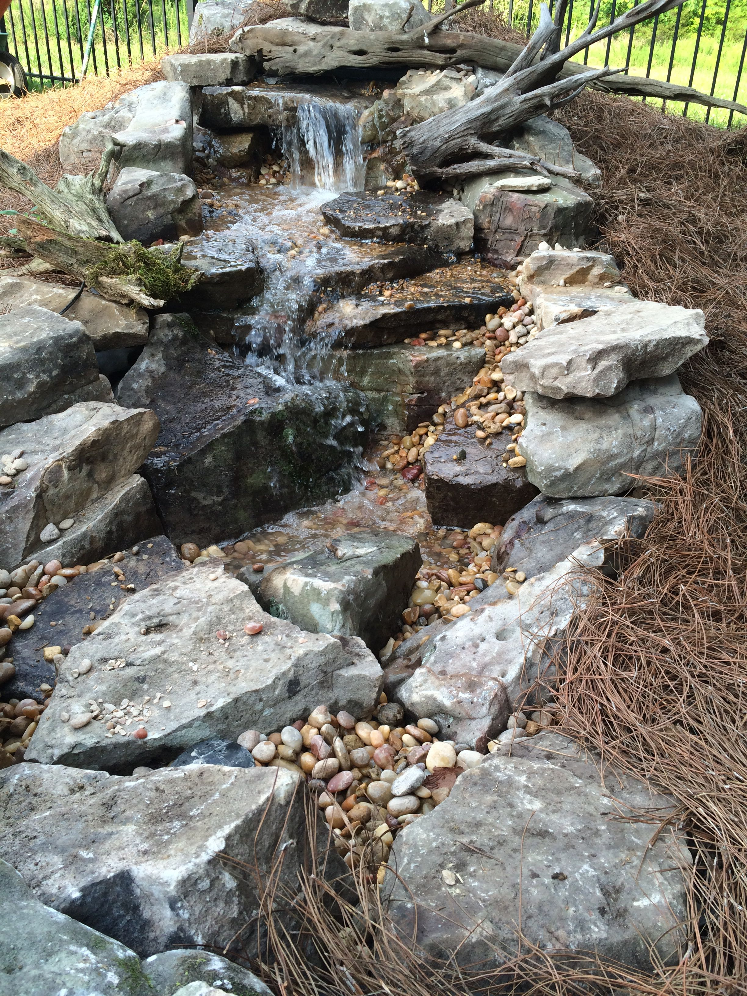 How to keep your pond clean. It's simple, install a ...