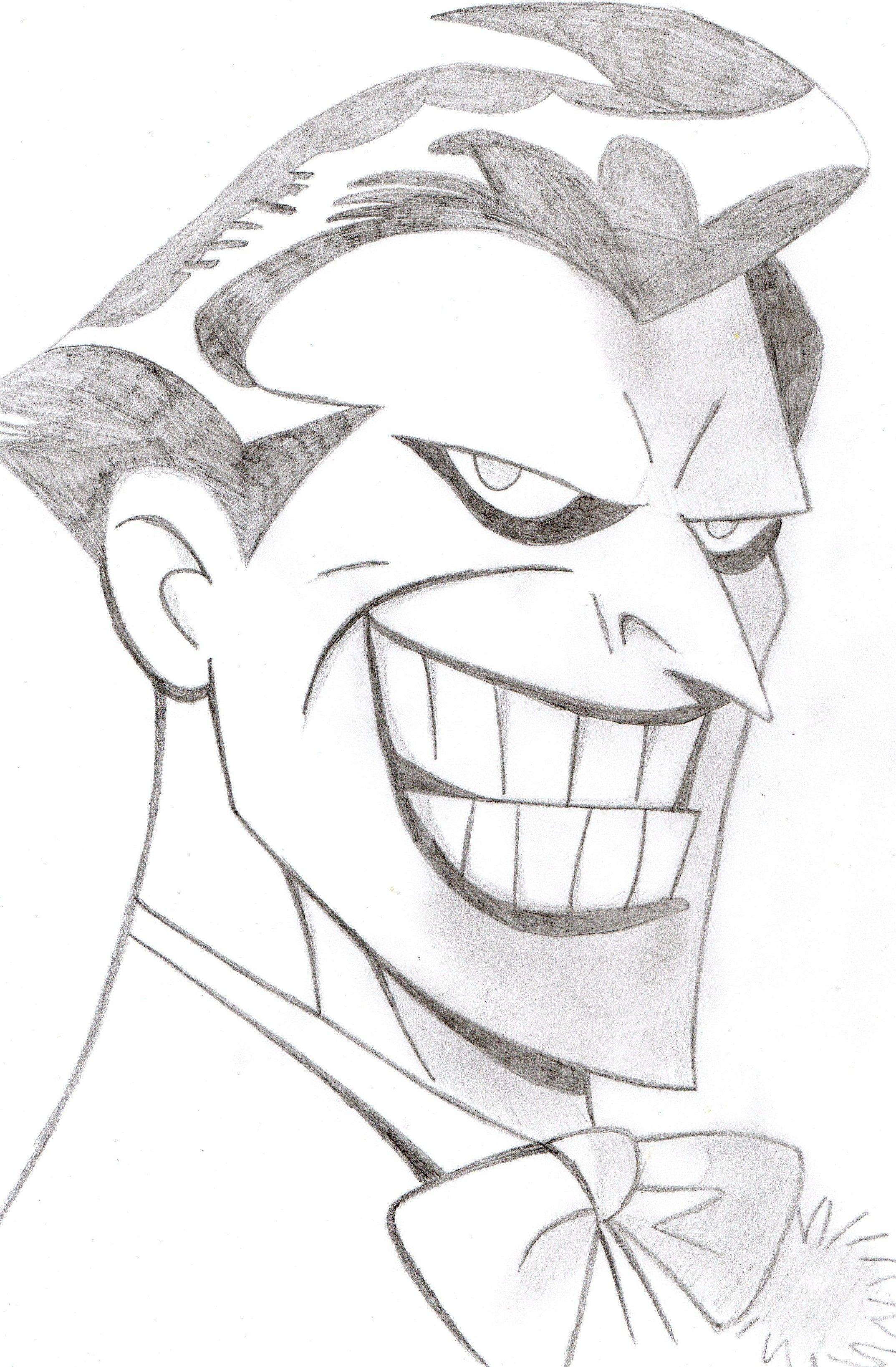Drawing Joker Cartoon : drawing, joker, cartoon, Joker, Portrait, Desenhos, Coringa,, Arlequina, Coringa, Desenho,, Desenho, Monica