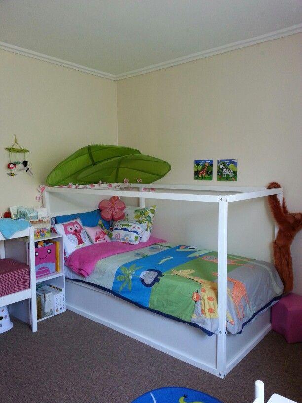 My Daughters Room Ikea Kura Bed Lova Leaves Adairs Kids Jungle