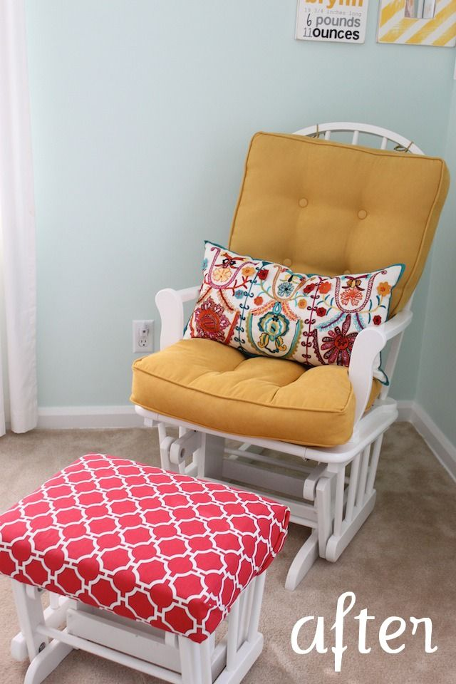 The Winthrop Chronicles Glider Makeover Glider Cushions Glider Rocker Nursery Glider