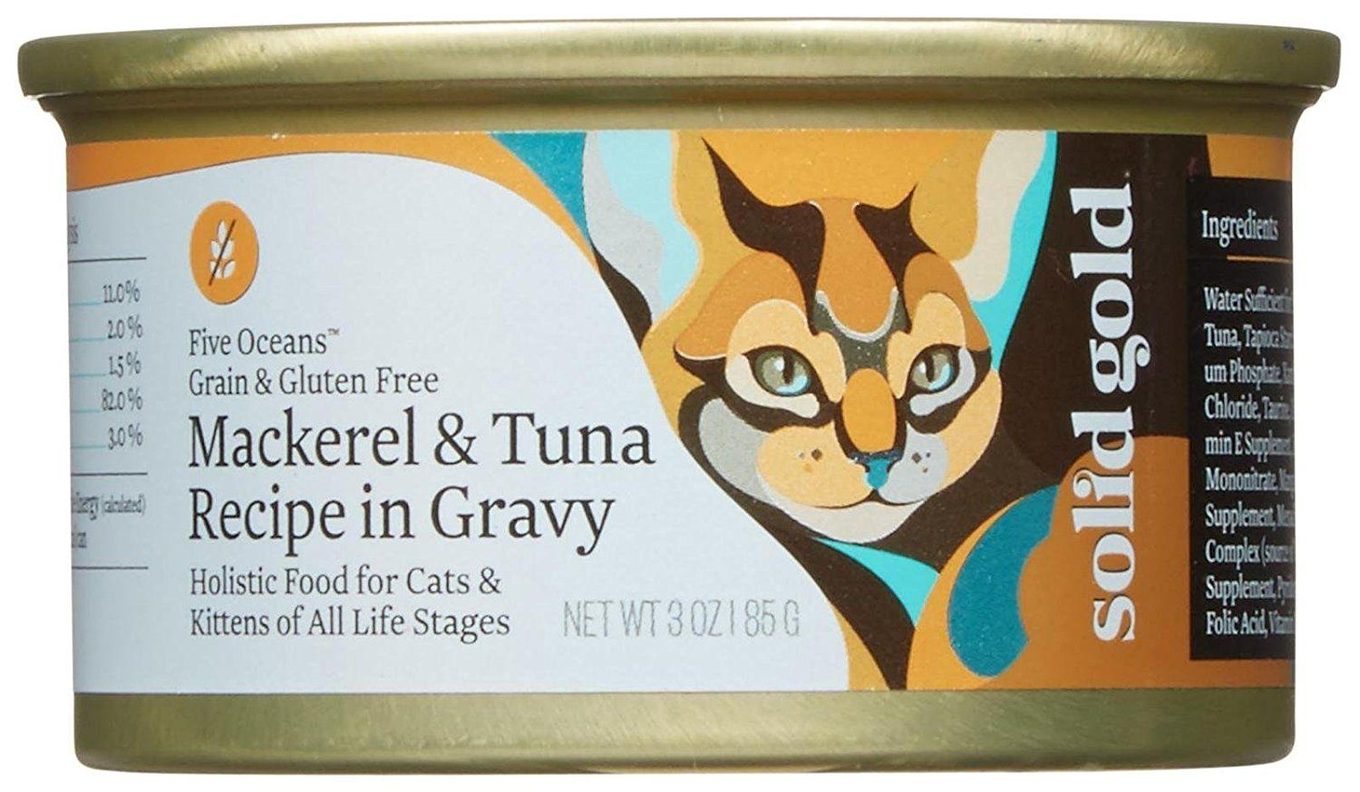Solid Gold Five Oceans Holistic Wet Cat Food Mackeral And Tuna