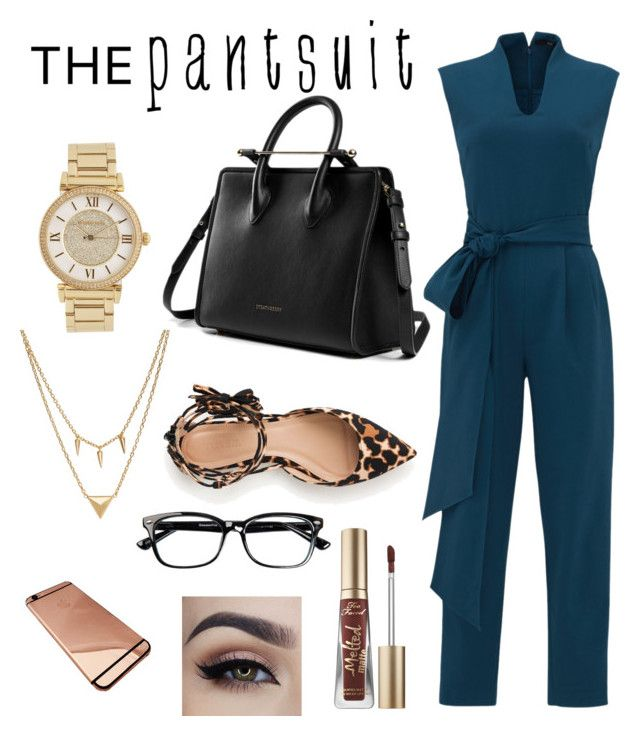 """Untitled #117"" by harmonyleroux ❤ liked on Polyvore featuring TIBI, Michael Kors, Edge of Ember, J.Crew, Too Faced Cosmetics and thepantsuit"