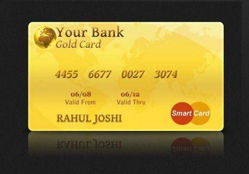 Famous Credit Card design sample Credit Card Gold design picture - membership card samples