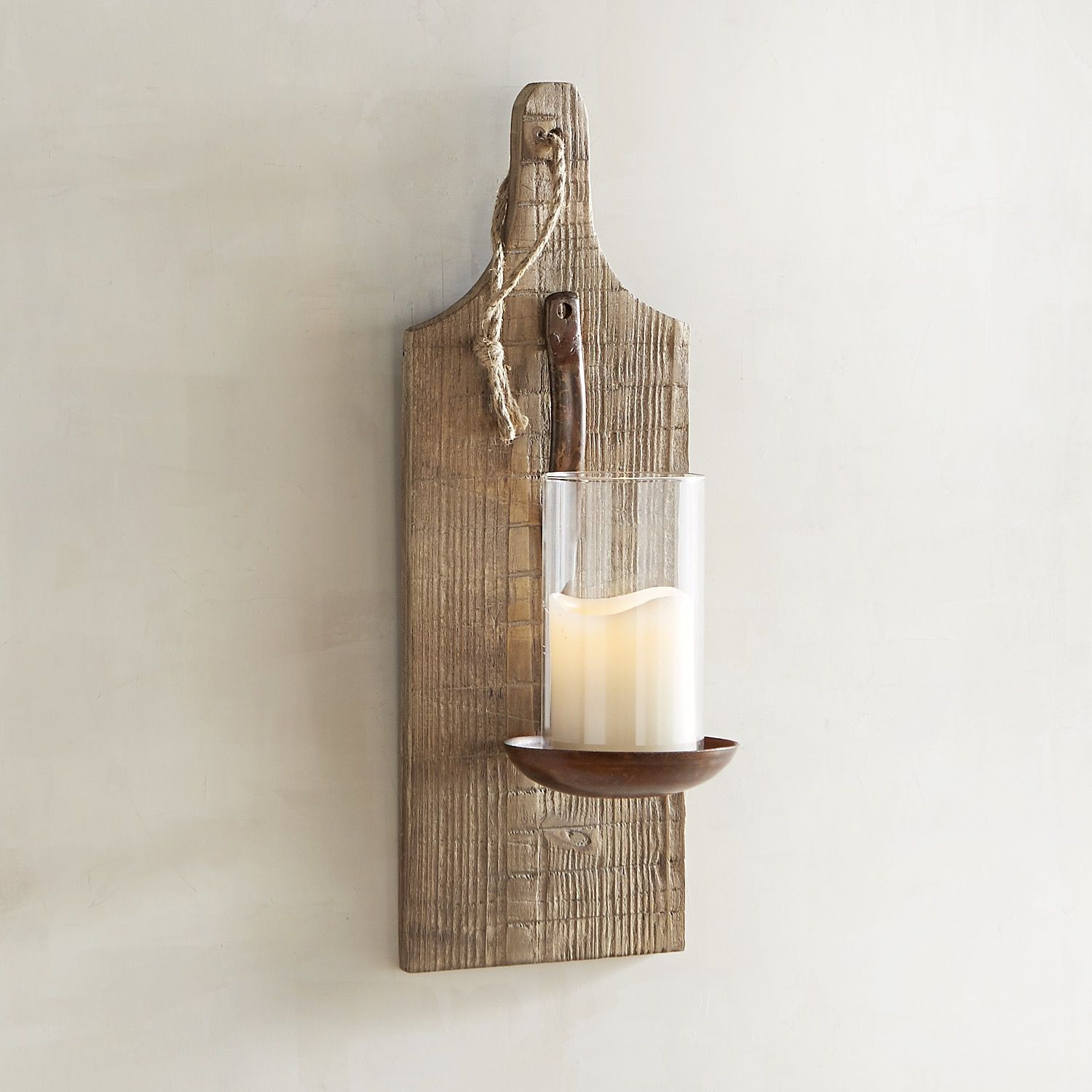 Bronze spoon pillar candle wall sconce wall sconces and products
