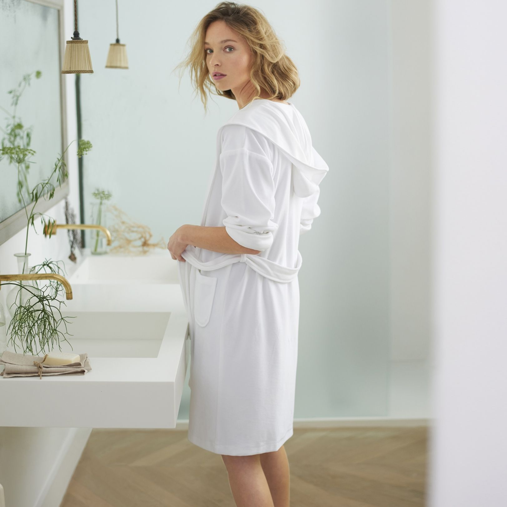 Lightweight Velour Short Robe | Lights | Pinterest | White company ...