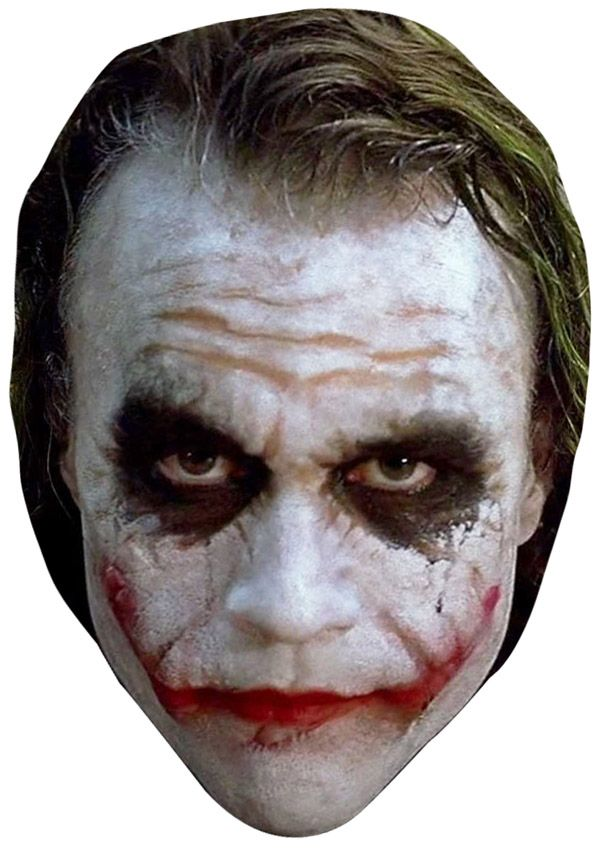 Heath Ledger Joker Face Mask. Perfect to wear for a Halloween Party. a76a673022