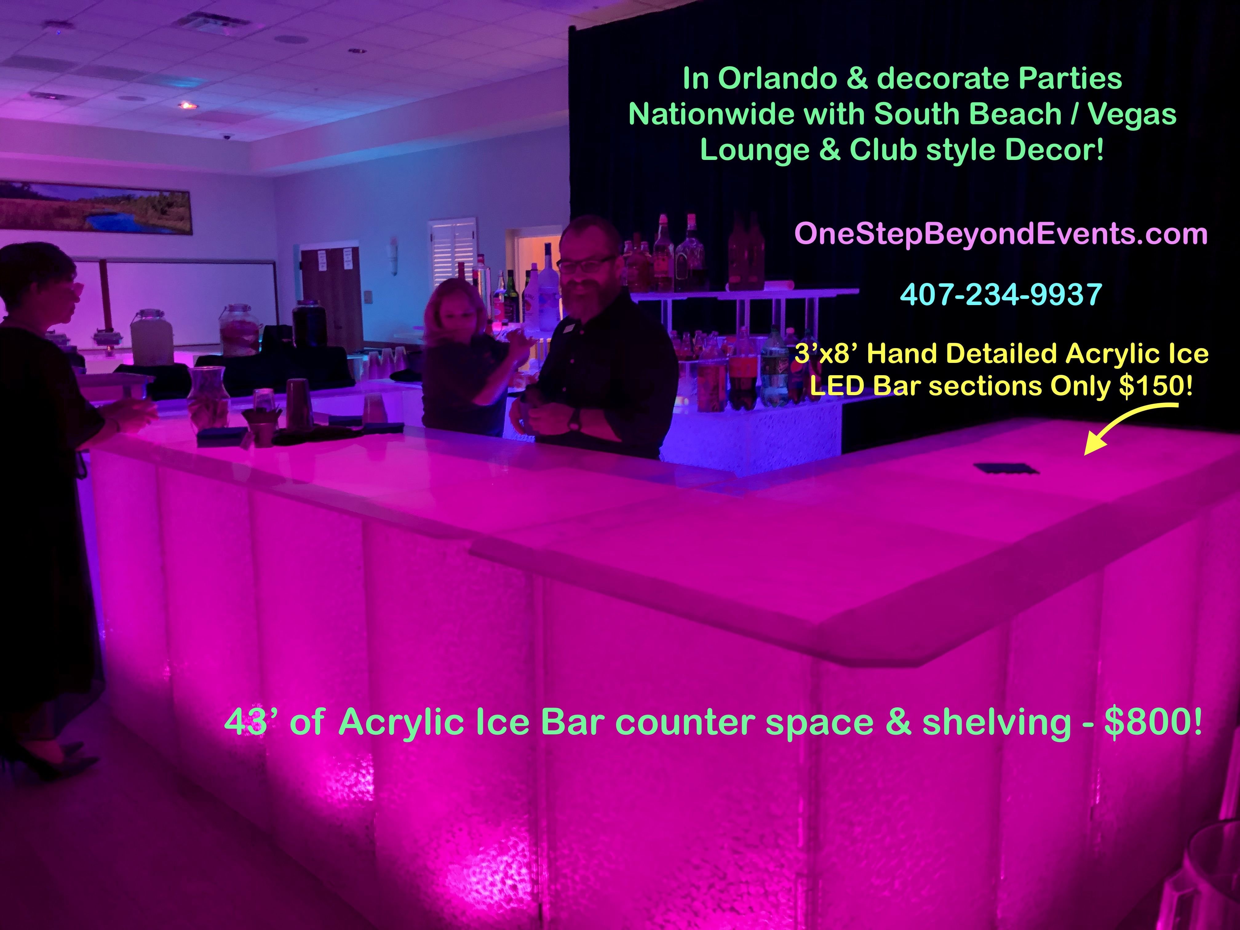 Affordable Party Rentals Lighted Table Led Furniture Rentals South Beach Vegas Style Light Up Decor Elegant 4 X4 In 2020 Glow Table Party Rentals Event Lighting