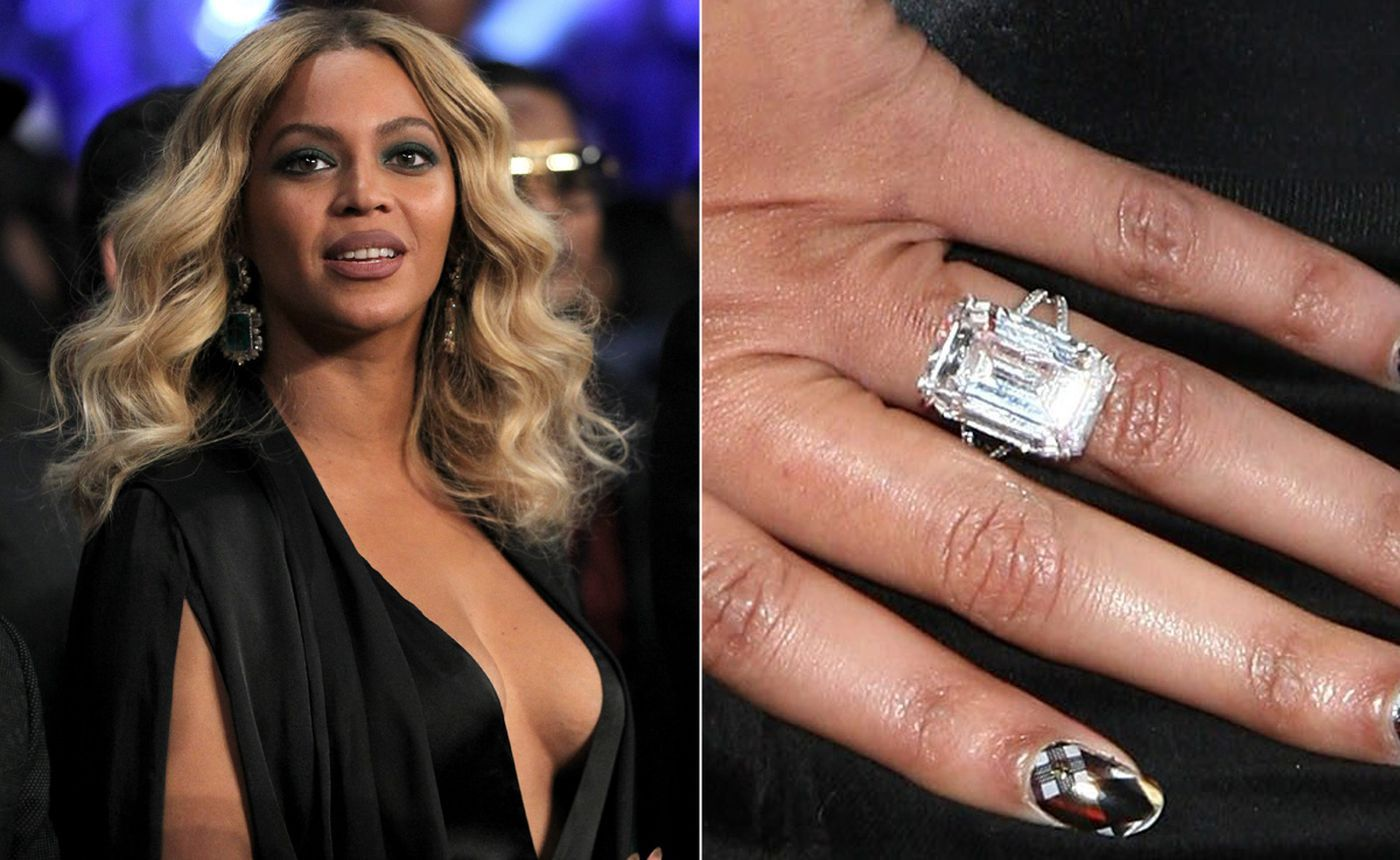 Beyonce Engagement Ring Wedding Ring Cost Large Wedding Rings Big Wedding Rings
