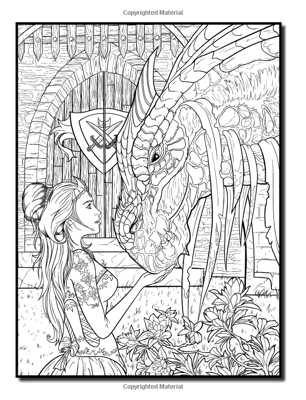 Amazon Com Dragons A Dragon Coloring Book With Legendary Mythical Creatures Enchanted Fantasy Realm Dragon Coloring Page Fairy Coloring Pages Coloring Books