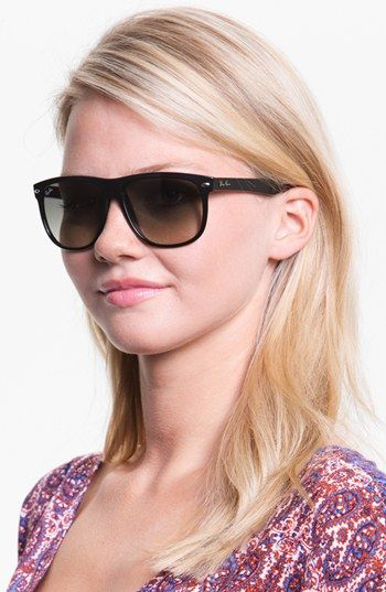 78830fe569b6 Ray-Ban 'Boyfriend Flat Top Frame' 56mm Sunglasses | Nordstrom- want ...