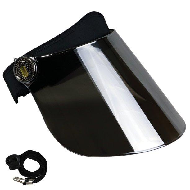 Sun Visor Hat Cap Uv Protection Premium Adjustable Solar Headband Face Shield Black Mirrored Walmart Com Sun Visor Hat Visor Hats Sun Visors