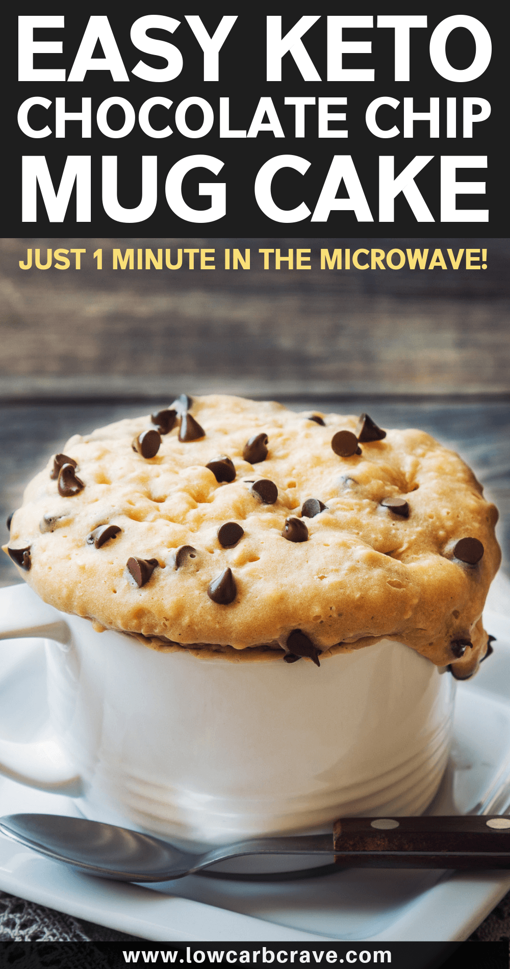 Keto Chocolate Chip Mug Cake #mugcake