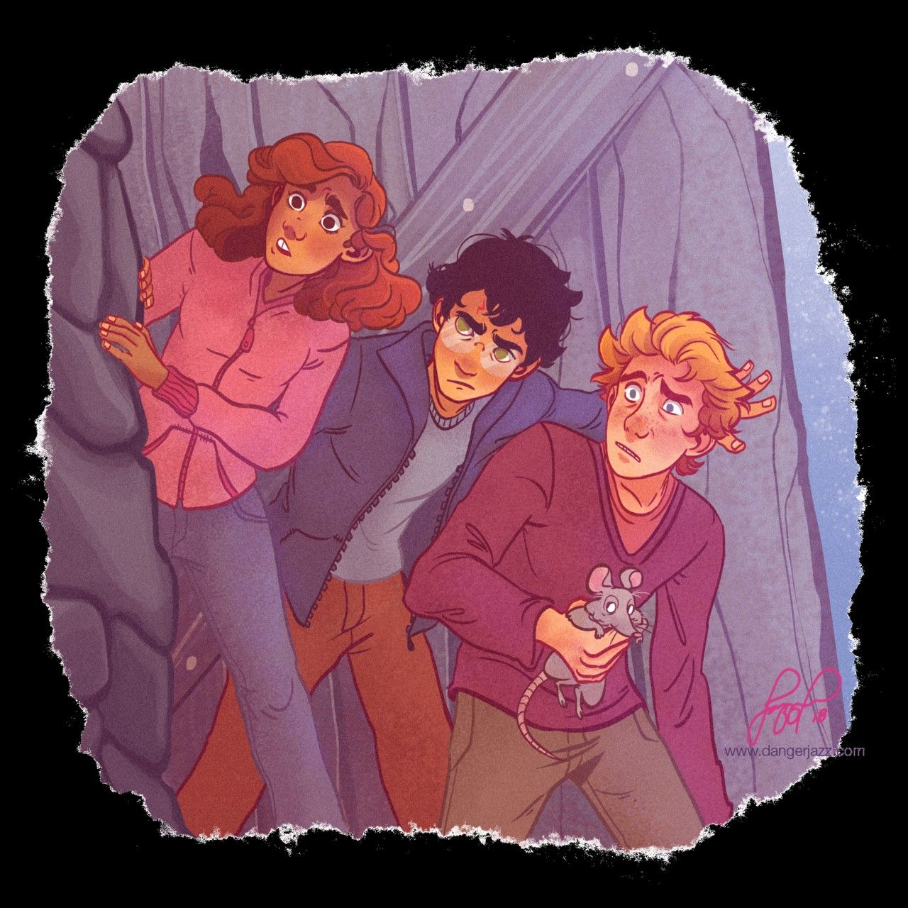 The Golden Trio Harry Potter Fan Art Harry Potter Drawings Harry Potter Art