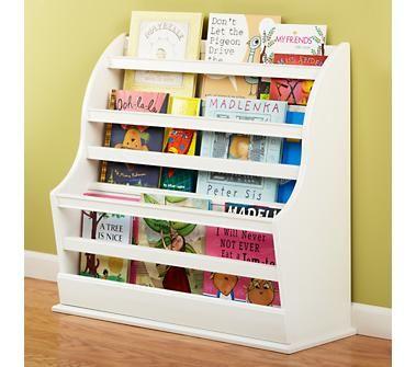 Kids' Bookcases: Kids White Floor Book Bin