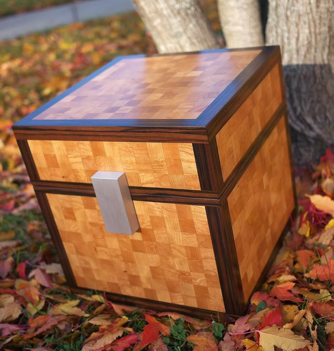 Real life minecraft chest.