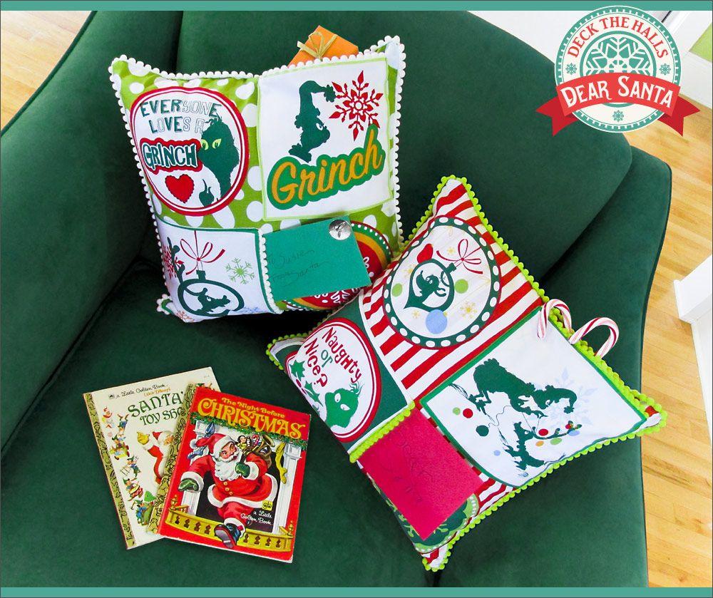 Letter For Santa Pocket Pillow Sew4home Holidays Pinterest