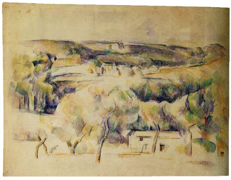 Paul Cezanne Landscape In Provence Paul Cezanne Paintings Paul Cezanne Cezanne Still Life