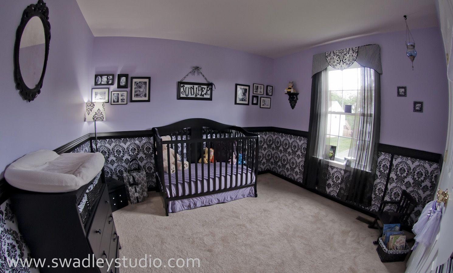 Purple Nursery Juniper S Nurseryfeaturing Wallcovering By Blue Sphere Painting
