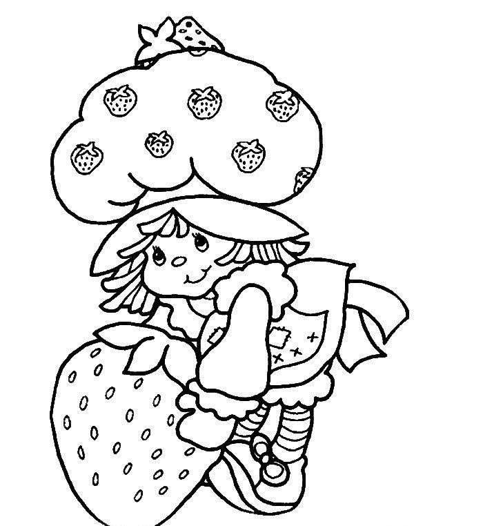 çilek Kız Boyama Sayfaları Okul öncesi Etkinlik Kütüphanesi