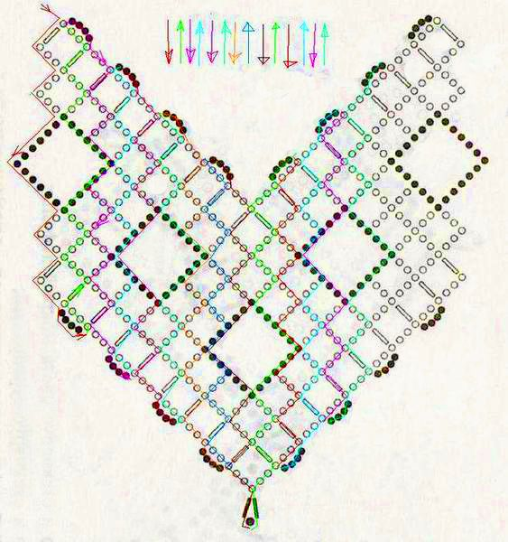 Free pattern for necklace Cherry | Patrones, Mostacilla y Collares
