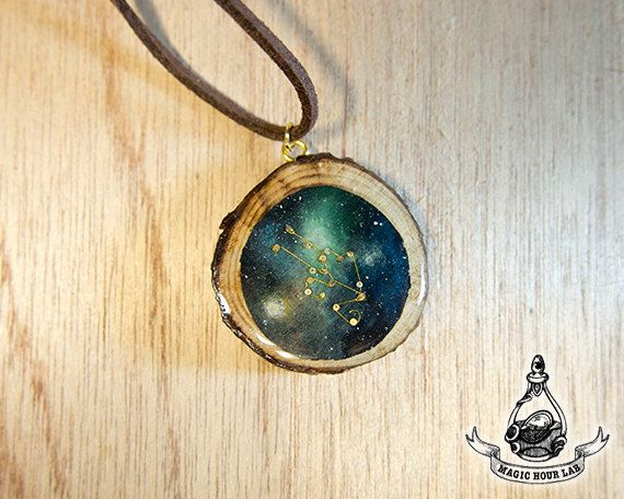 constellation necklace (Taurus), Star Necklace, Zodiac Jewelry, Space Jewelry…