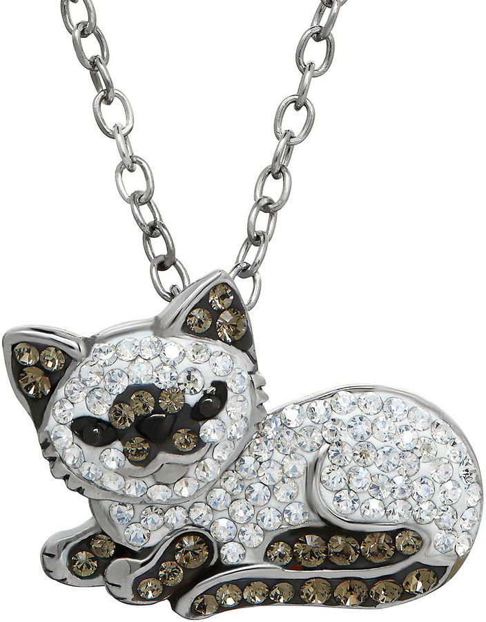 Cat necklace animal necklace silver necklace silver kitten necklace cat jewelry pendant Hello kitty necklace cat jewelry pendant