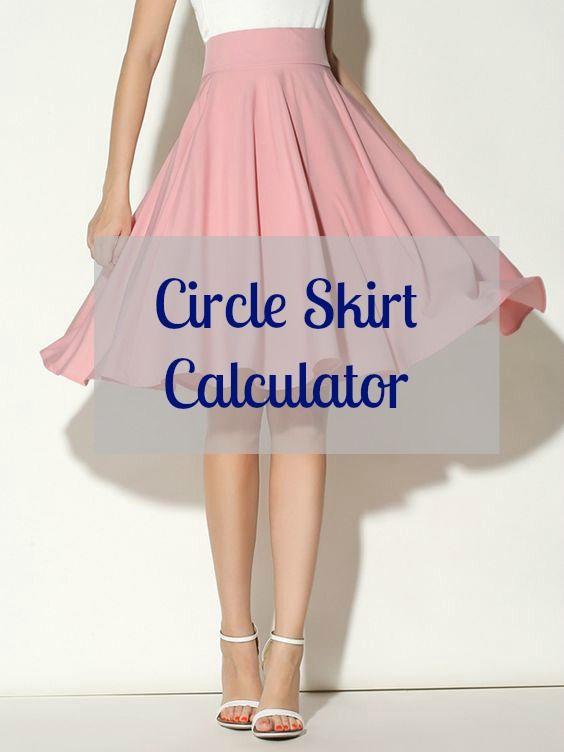 Circle Skirt Calculator | Sewing | Sewing, Circle skirt calculator ...