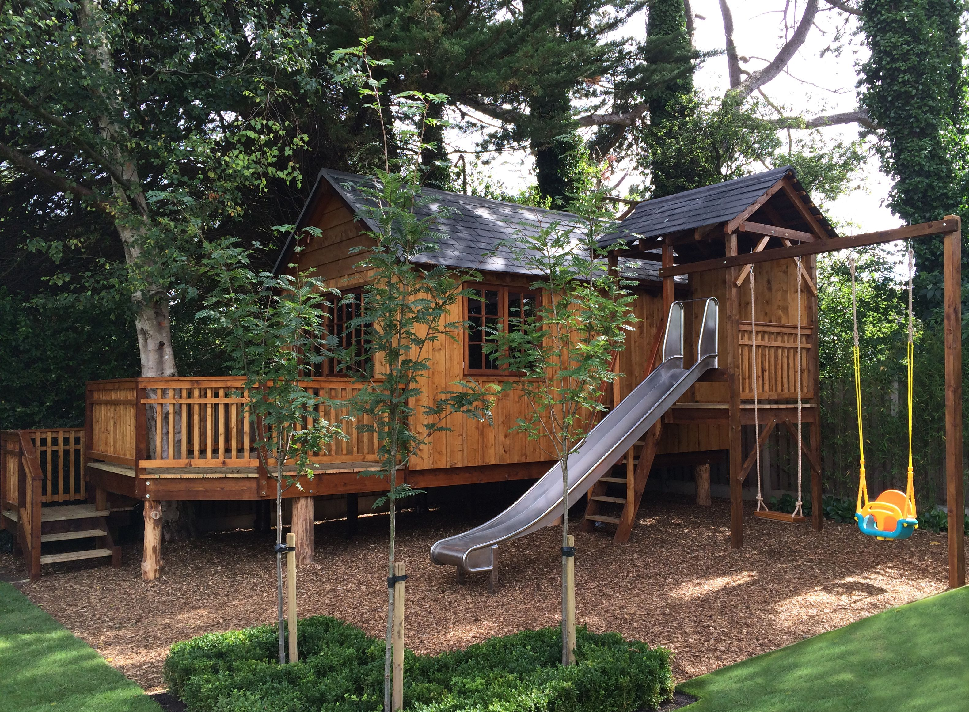 bespoke treehouse in ireland complete with play tower bespoke