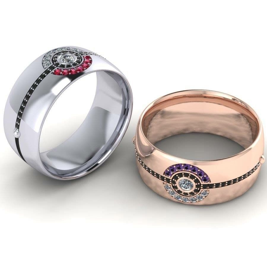 Poke Band For The Guys From Paul Michael Design Pokemon Wedding Ideas Misfit Wedding Rings Jewelry Fashion Custom Wedding Rings Wedding Rings