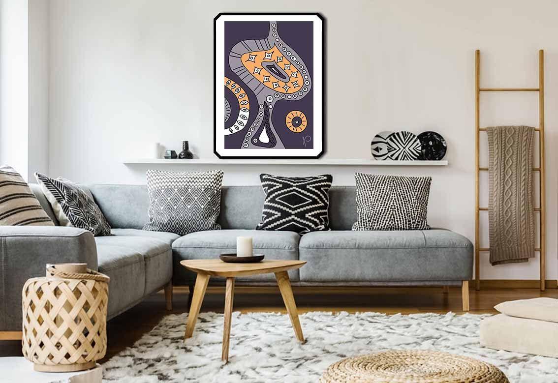 Pareti Di Casa Colori arte astratta della parete arte ornamentale moderna tribale