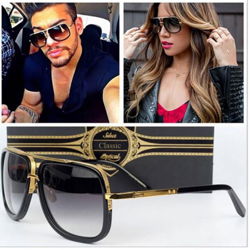 3344330687 TSHING Men Fashion Square Sunglasses Women Superstar Brand Designer Trendy  Celebrity Mirrored Sun Glasses Male Female Eyewear